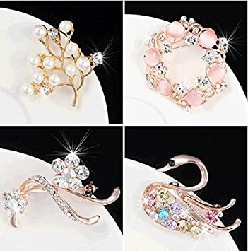 ea96cfbe5290 Amazon.com   Spring and summer flower brooch pin jewelry women sweater chain  collar pin brooch scarf igan clothing accessories   Beauty
