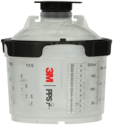 3M 26114 2.0 Spray Cup System Kit, Mini (6.8 fl oz, 200 mL), 200u Micron Filter