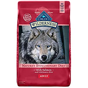 Blue Buffalo Wilderness High Protein Grain Free, Natural Adult Dry Dog Food, Salmon 24-lb 85