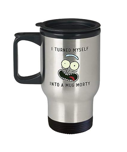 649d90fea37 Amazon.com: I Turned Myself Into a Mug Morty Gift for Rick and Morty ...