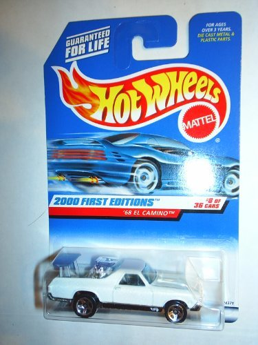 Hot Wheels 2000-068 First Editions 8/36 White '68 El Camino 1:64 Scale