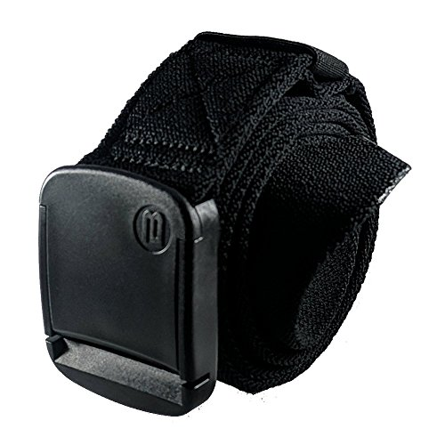 BETTA 1.5 Inch Wide Men's Elastic Stretch Belt with Fully Adjustable High-Strength Buckle (XXX-Large, Black)
