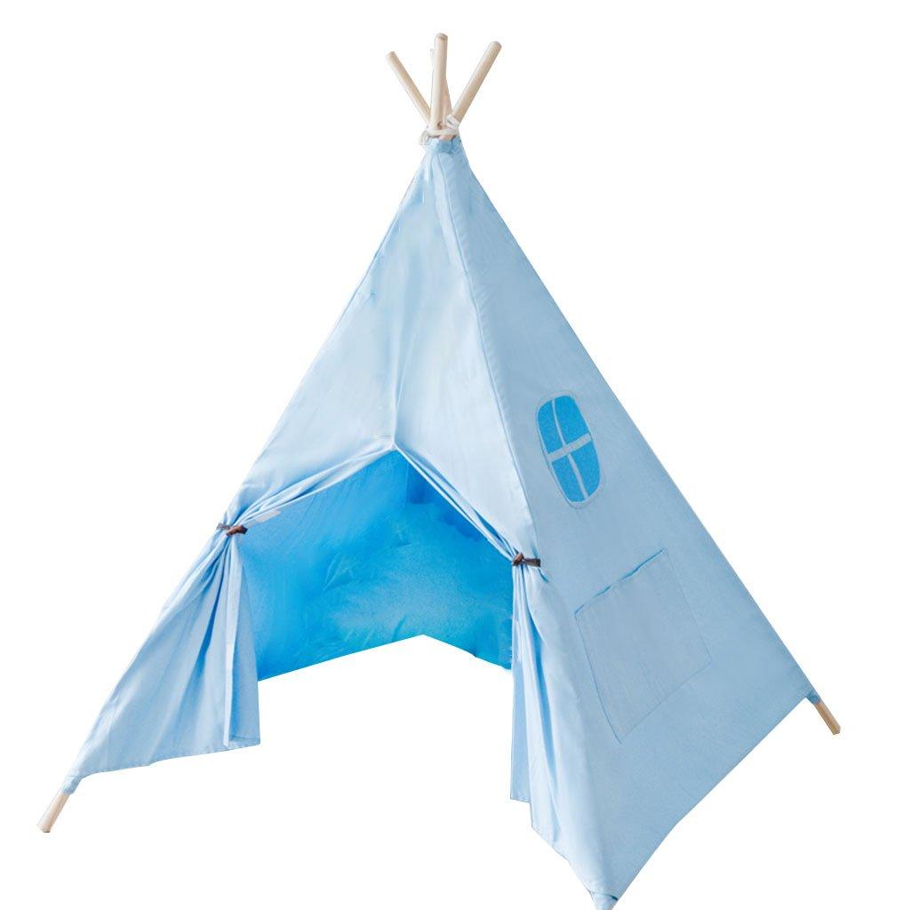 Dekoration Zelt, Haushalt Spiel Haus Indoor Blau Kinderzimmer Schloss Jungen und Mädchen Spielen Haus Spielzeug Zimmer 120  120  155 cm