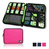 BUBM Universal Cable Organizer Electronics Accessories Case Various USB, Phone, Charge, Cable organizer Travel Organizer-king Size