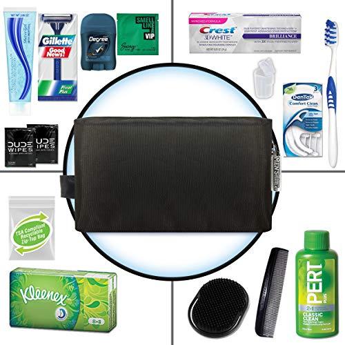 Convenience Kits International Men's Premium 15 Piece Assembled Travel Kit Featuring: Gillette Disposable Razor and…