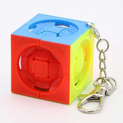 Alician Mini 3x3x3 Magic Cube Toy Kids Anti-Stress Educational Puzzles Keychain