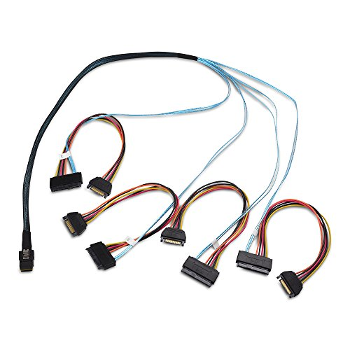 Cable Matters Internal Mini-SAS to 4x Internal SAS Cable 3.3 Feet / (U320 Scsi Drive)