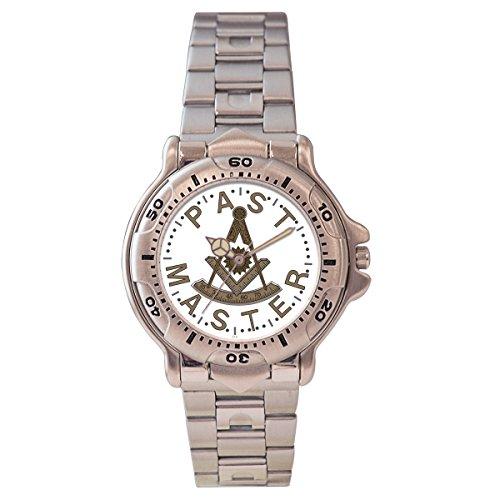 Pedre Men's Silver-Tone Masonic Past Master Watch 0271FPM ()