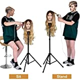 Klvied Reinforced Wig Stand Tripod Mannequin Head