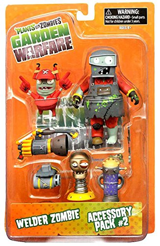 Plants Vs. Zombies Garden Warfare Series 2 Welder Zombie U0026 Accessory Pack 2  5u0026quot;