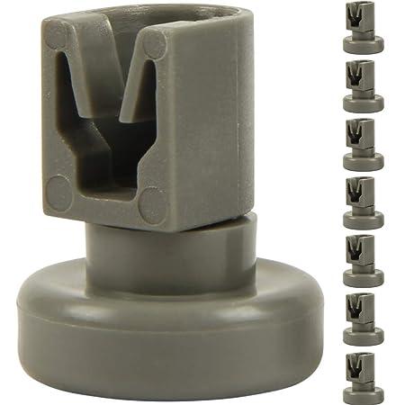 McFilter - Ruedas para cesta superior de lavavajillas (8 unidades, adecuadas para AEG Favorit, Privileg, Zanussi, etc.)