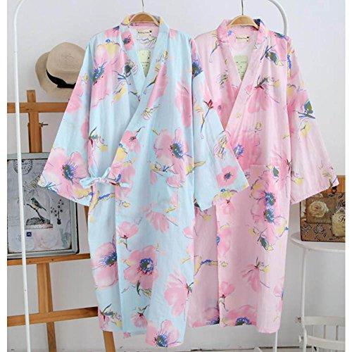 Japanische Stil Frauen Dünne Baumwolle Bademantel Pyjamas Kimono ...