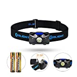 Olight H04 ACTVIE 120 Lumens LED Headlamp with OSRAM P8 Cool White LED TIR Lens Powered by 2 x AAA Batteries LED Headlight Head Torch for Camping Hiking Night Running