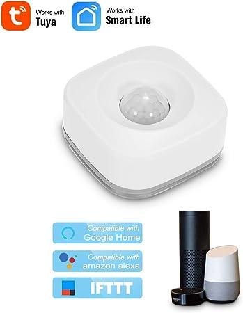 OWSOO WiFi D/étecteur de Mouvement PIR Capteur de Mouvement sans Fil D/étecteur Infrarouge Passif S/écurit/é Alarme Antivol Capteur Tuya APP Contr/ôle Smart Home Capteur de Mouvement WiFi PIR
