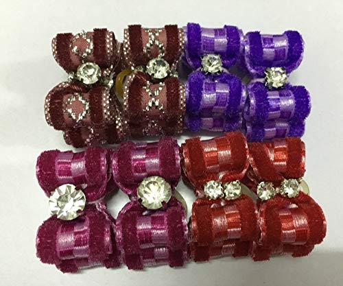 Red Pet Hair Bow with Diamond t Design Hot Sell Handmade pet Products