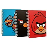 Angry Birds Medium Notebook -red or black or blue