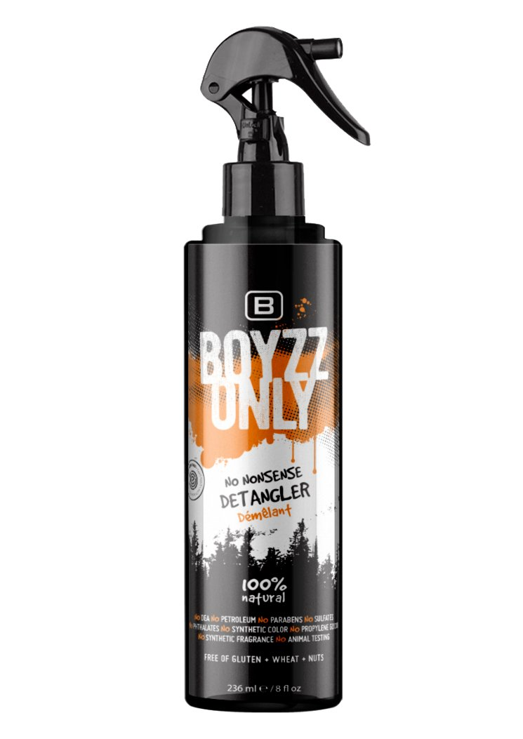 BOYZZ ONLY NO NONSENSE Detangler - EWG VERIFIED - Organic - Sulfate and Paraben Free. All Natural | Cruelty Free | Vegan | CertClean Certified QNaturals Holdings Inc