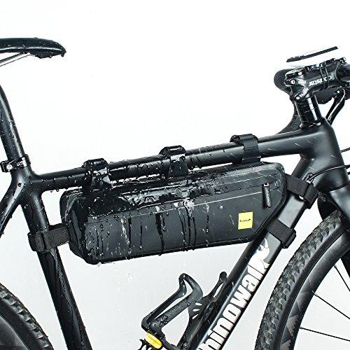 Rhinowalk Bike bag Bike Frame Bag Waterproof bike Triangle bag handlebar bag Bicycle Pouch Under Tube Top Tube Pack cycling bike saddle bag Bicycle Bag Professional Cycling Accessories (Saddle Tube)