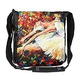 Colorful Ballet Girl Dancer Fashion Print Diagonal Single Shoulder Bag