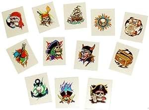 Pirate tattoos, pack of 24 (tatuajes temporales)