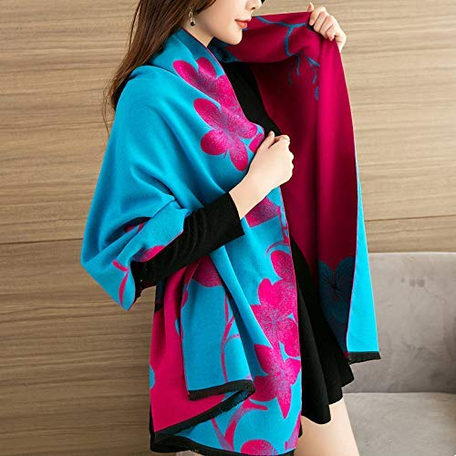 2 Zhuyuanhai Scarf ladies autumn and winter shawl dualuse thick warm students wild long paragraph warm super large