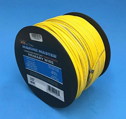 DEKA 14AWG YELLOW Marine Tinned Copper Boat Stranded Wire 100 Feet Made in USA by EastPenn Deka