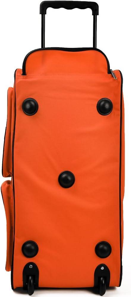 Deuba Borsone da viaggio con ruote XL 70x36x34cm 85 L Trolley Borsa da viaggio Borsa sportiva bagaglio valigia manico telescopico arancione
