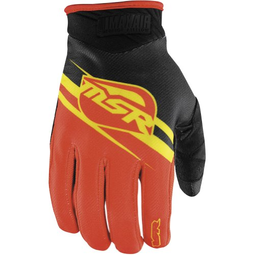 - MSR Racing MAXAIR Men's Dirt Bike Motorcycle Gloves - Yellow/Red / Small