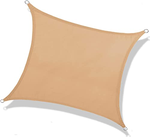NAKAMORY Sun Shade Sail Waterproof Rectangle Size 95 UV Block