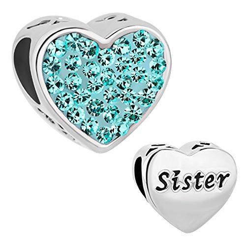 CharmSStory Sister Charms Birthstone Bracelet