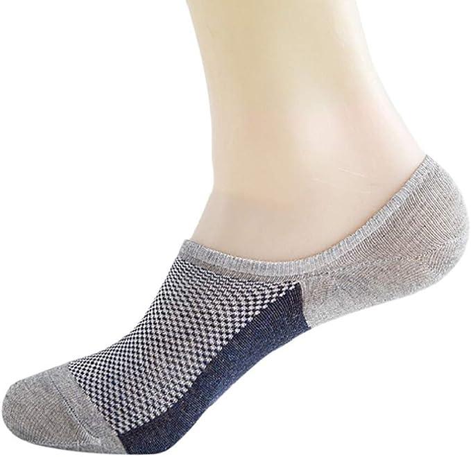 LUCKYCAT Calcetines para Mujer Invisibles Cordón De Algodón Calcetines Cortos Elástco Con Silicona Antideslizante Anti-olor Calcetines Tobilleros de Algodón para Hombre y Mujer: Amazon.es: Ropa y accesorios
