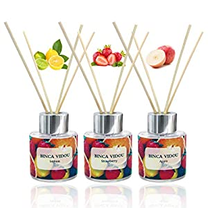 Binca-Vidou-Reed-Diffuser-Set-of-3-Apple-Lemon-Strawberry-Oil-Reed-Diffusers-for-Bedroom-Living-Room-Office-Aromatherapy-Oil-Reed-Diffuser-for-Gift-Stress-Relief-50ml-x-3