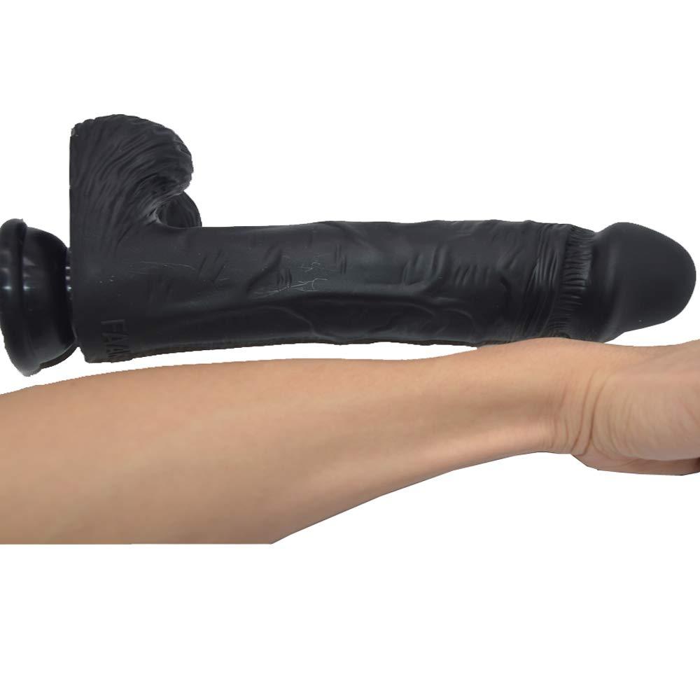 SYXL Simulación de Silicona Fake Penis Extra Larga Enorme (25 pene Adulto Juguetes sexuales (25 Enorme * 5.8 * 5 cm) (Color : A) 1499c3
