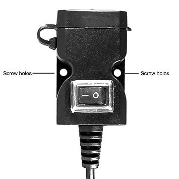 Doble Puerto USB 12V Impermeable Moto Moto Manillar ...