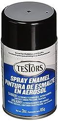 Testors TENAMEL-1247 Aerosol Enamel Paint, 3-Ounce, Gloss Black from Testors