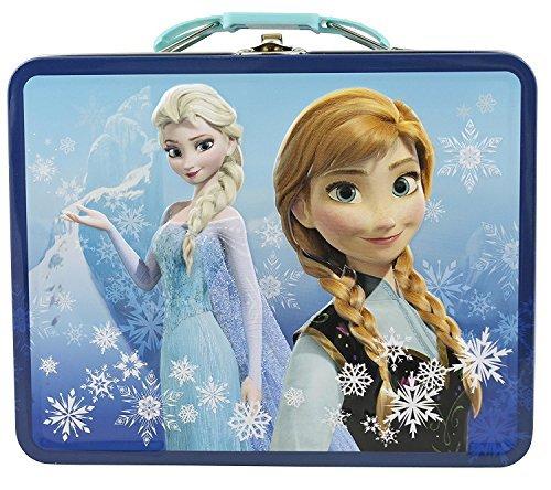Disney Frozen 3D Design Embossed - Metal Tin Lunchbox (Navy)