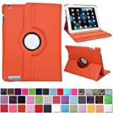 HDE® Orange Rotating Case Stand fits iPad 2 / 3