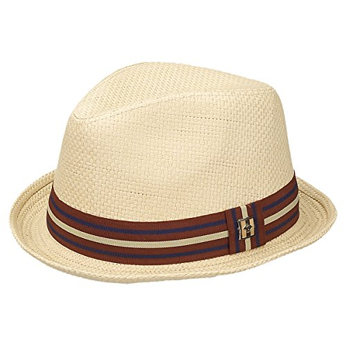 Peter Grimm Depp Natural Straw Fedora - Natural (XXL)