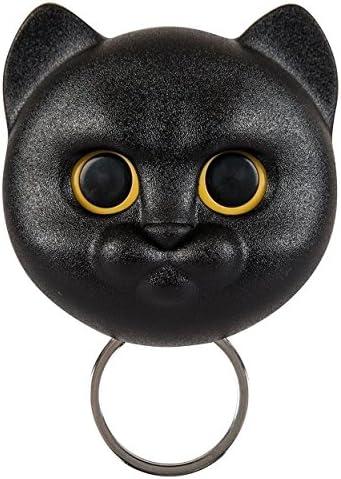 Qualy Neko Cat Wall Keyring Holder Hook Opens Eyes Home Decor Black Amazon Co Uk Kitchen Home