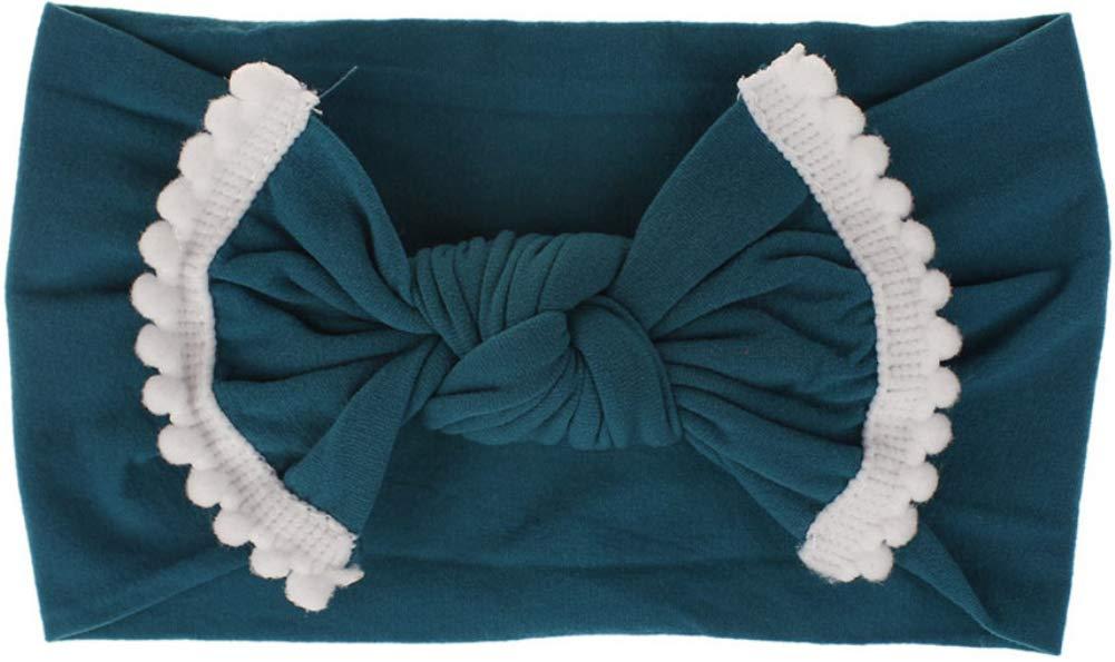 HairAcc Baby Nylon Elastic Knotted Headbands Baby Head Wraps Hariband and Bows