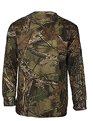 Trail Crest Men's Highland Timber Camouflage Long Sleeve T-Shirt W/ Magnet