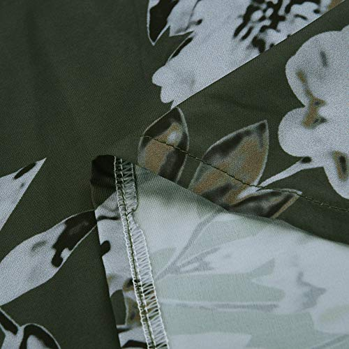 Oversize Stampato Maglietta Verde Tops feiXIANG Donna Army Pulsante Felpa Collo Camicia con Manica Donna Sciolto Shirt Floreale Casuale Lunga T a Donne Top Risvolto Camicetta Autunno Sciolto Camicia Ogx4qzpAw