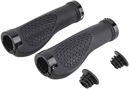 Ergonomic MTB Mountain Bike Handlebar Rubber Bar End Grips Cycling Lock-On