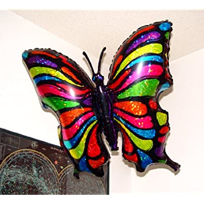 SPACE PET Anti-Gravity Hovering Flying Floating POP Art Butterfly 33 inch Toy Pet Balloon Party Favor: Toys & Games