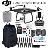 DJI Phantom 4 PRO Obsidian Edition Drone Quadcopter (Black) Ultimate Pro Backpack Bundle