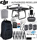 DJI Phantom 4 PRO Obsidian Edition Drone Quadcopter (Black) Ultimate Pro Backpack Bundle