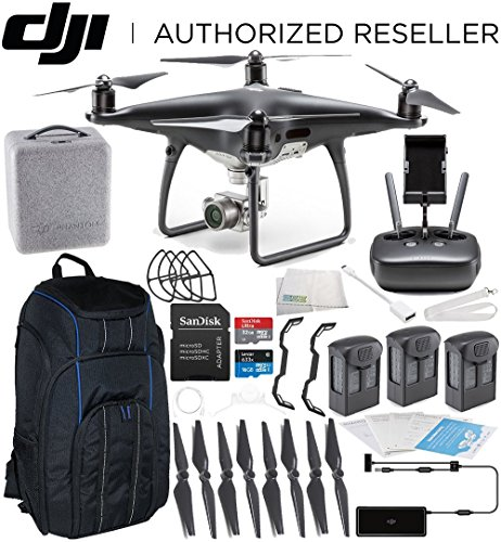 DJI Phantom 4 PRO Obsidian Edition Drone Quadcopter (Black) Ultimate Pro Backpack ()