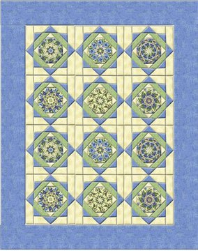 Twinkling Stars Double Size Quilt Top Kit