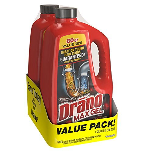 Drano Max Clog Remover Twin Pack, 160 Ounce