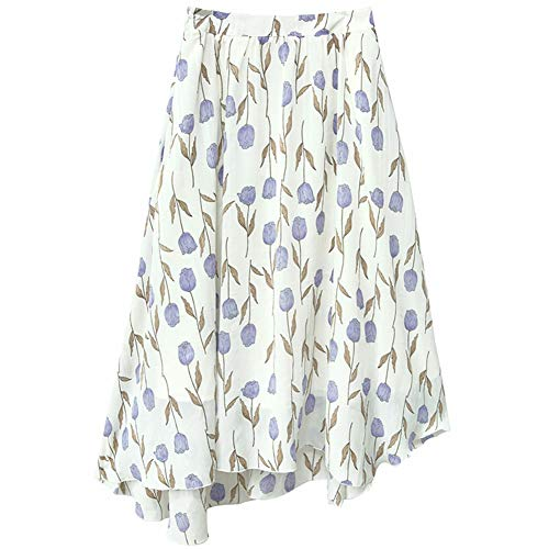 JJNZD Jupe Mi-Longue Jupe Petite Taille Haute en Mousseline De Soie Fra?che Rtro Jupe Femme en Automne M